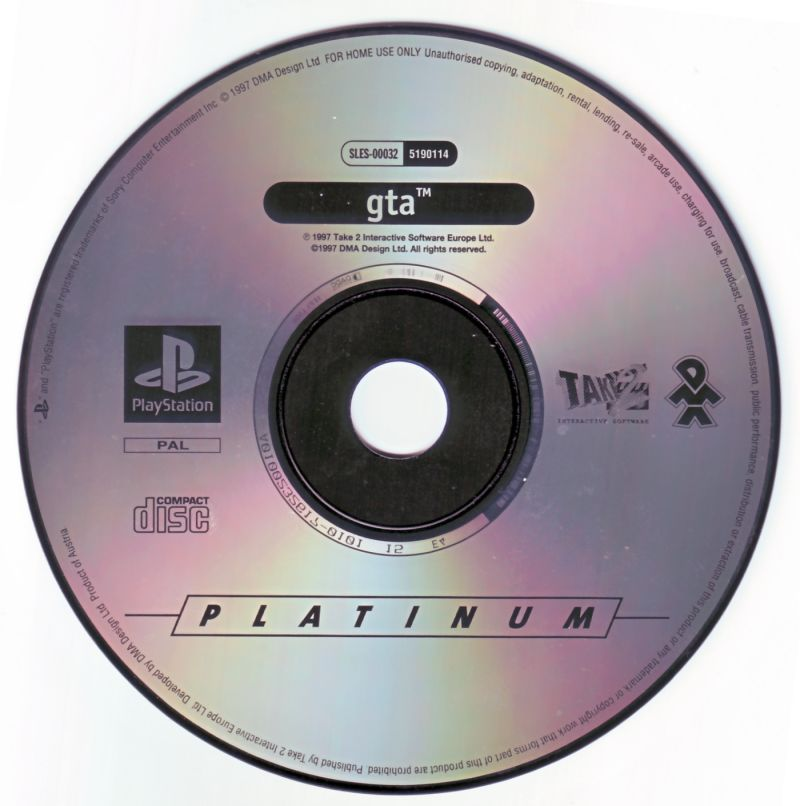 Grand Theft Auto PlayStation Media