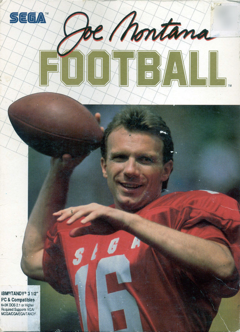 Joe Montana Football DOS Front Cover