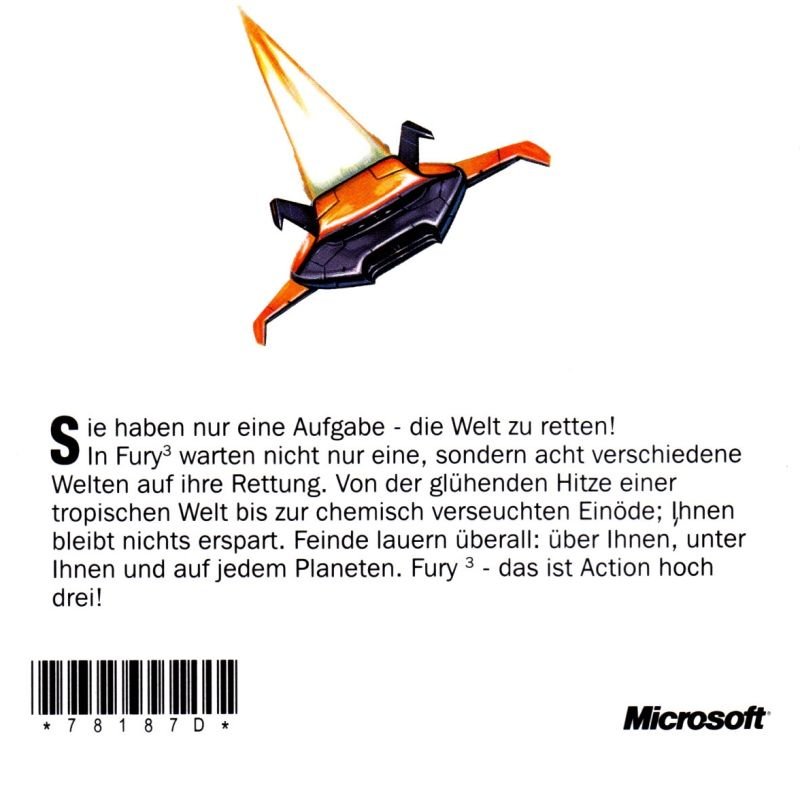 Fury³ Windows Manual Back