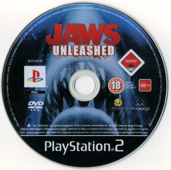 Jaws: Unleashed PlayStation 2 Media