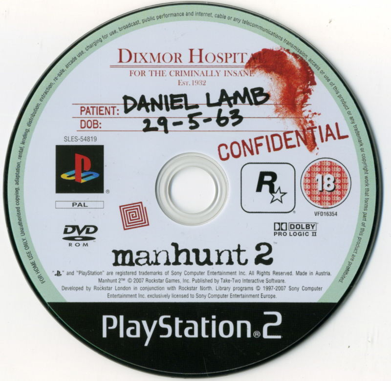 Manhunt 2 PlayStation 2 Media
