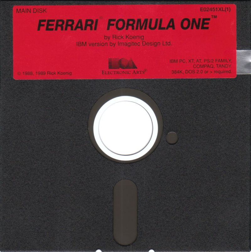 Ferrari Formula One DOS Media Disk 1/2 (2nd Disk named: Race Disk)