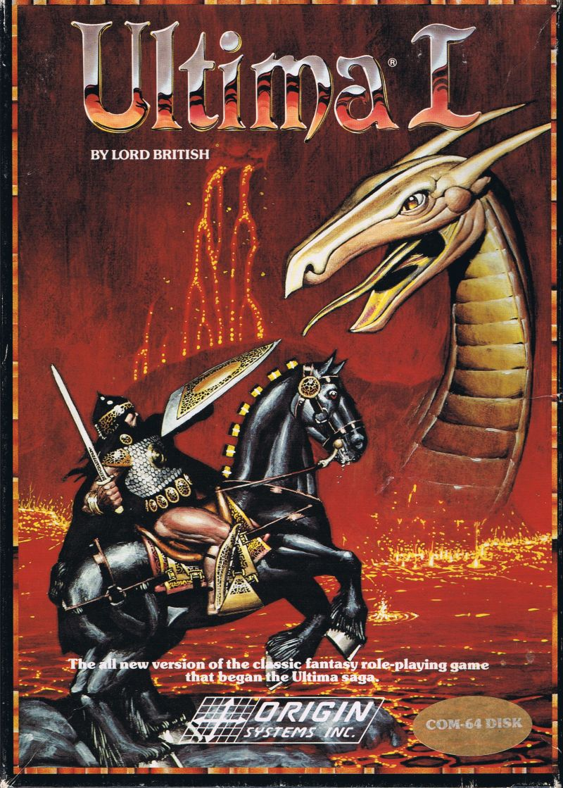 Ultima I: The First Age of Darkness Commodore 64 Front Cover