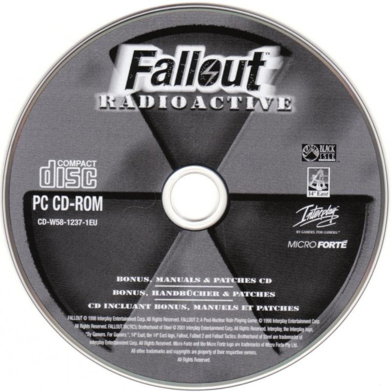 Fallout Radioactive Windows Media Bonus, Patches and Manuals