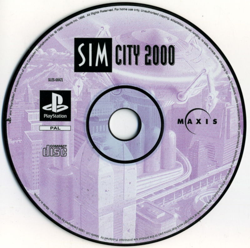 SimCity 2000 PlayStation Media