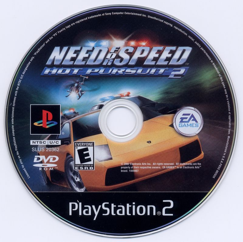Need For Speed Hot Pursuit 2 2002 Playstation 2 Box Cover Art