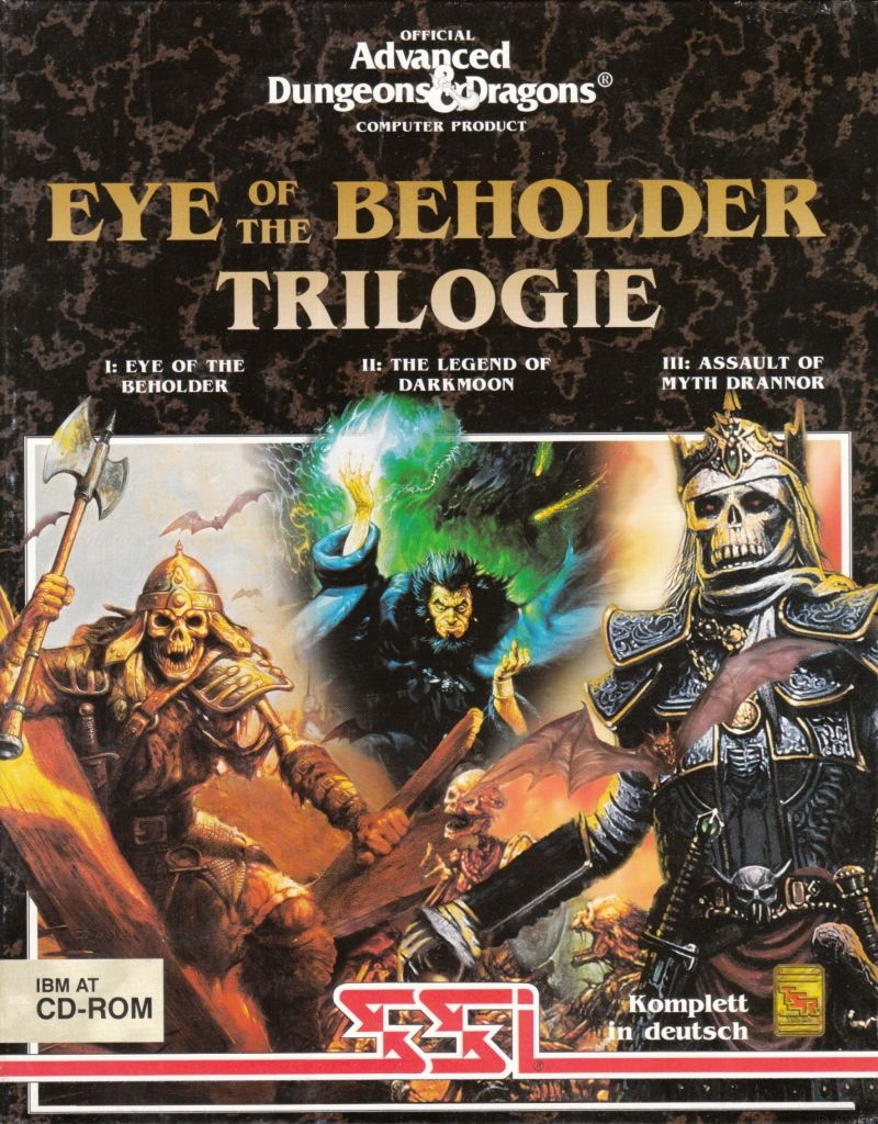 Eye of the Beholder / Eye of the Beholder II: The Legend of Darkmoon / Eye of the Beholder III: Assault on Myth Drannor DOS Front Cover