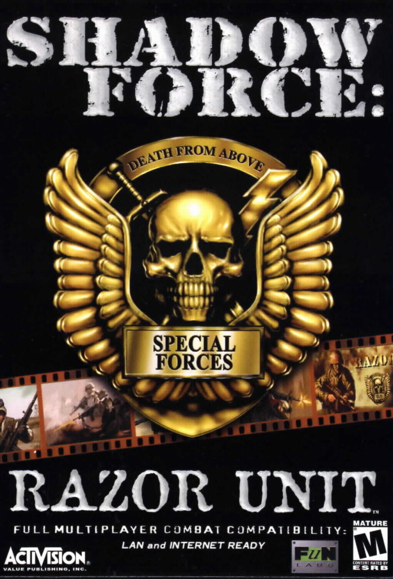 Shadow Force: Razor Unit Windows Front Cover