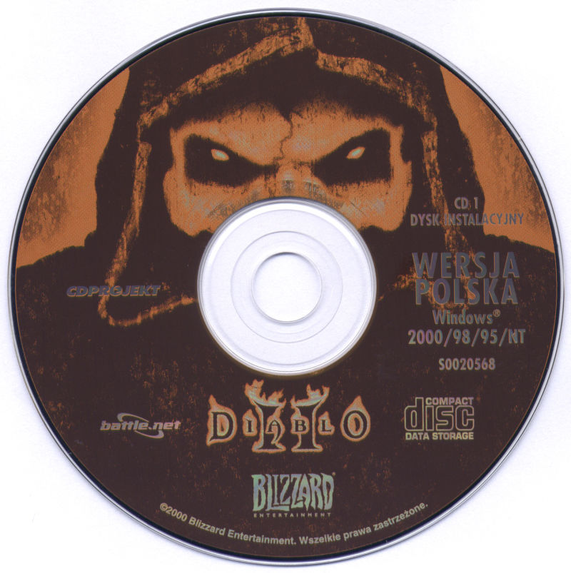 Diablo II (Collector's Edition) Windows Media Game Disc 1/3