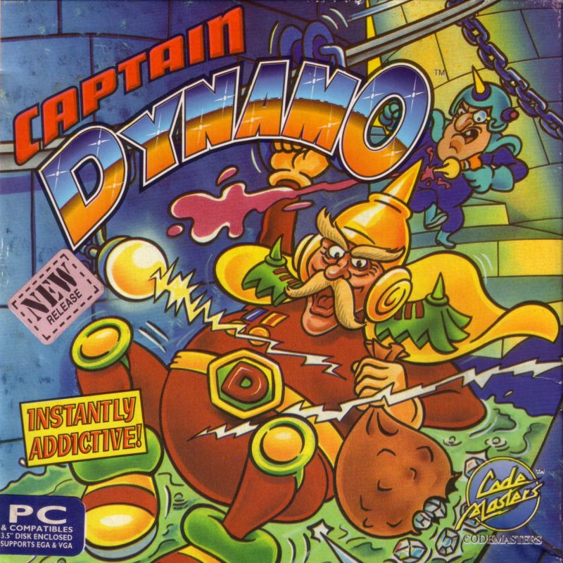 Captain Dynamo DOS Front Cover