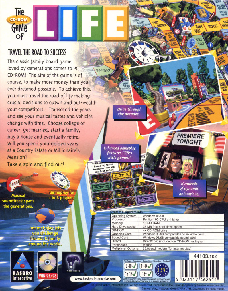 the game of life 1998 windows box cover art mobygames