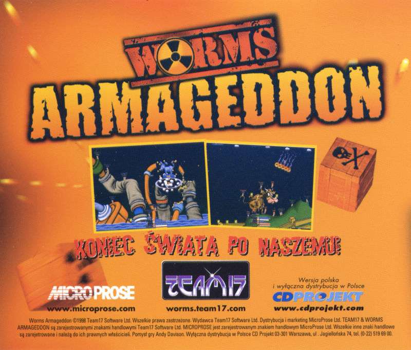 Worms: Armageddon Windows Other Jewel Case - Back