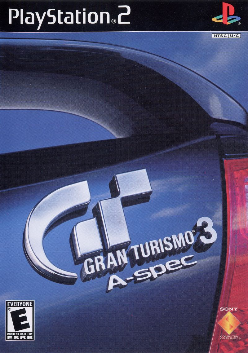 Gran Turismo 3: A-spec PlayStation 2 Front Cover