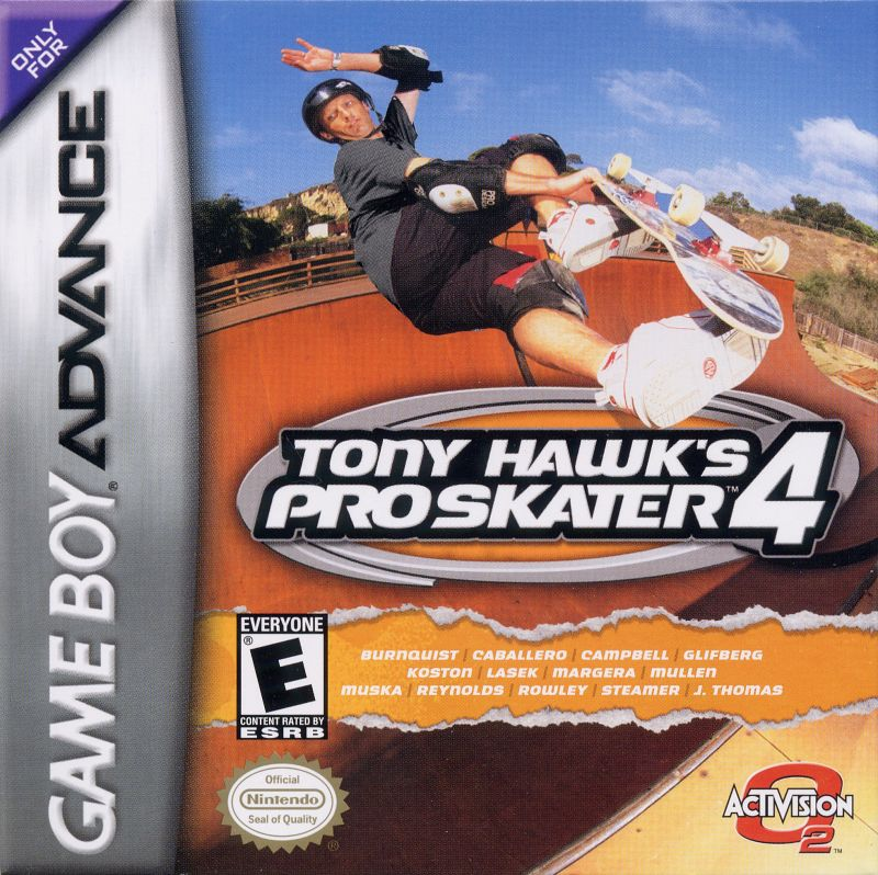 Tony Hawk's Pro Skater 4 Game Boy Advance Front Cover