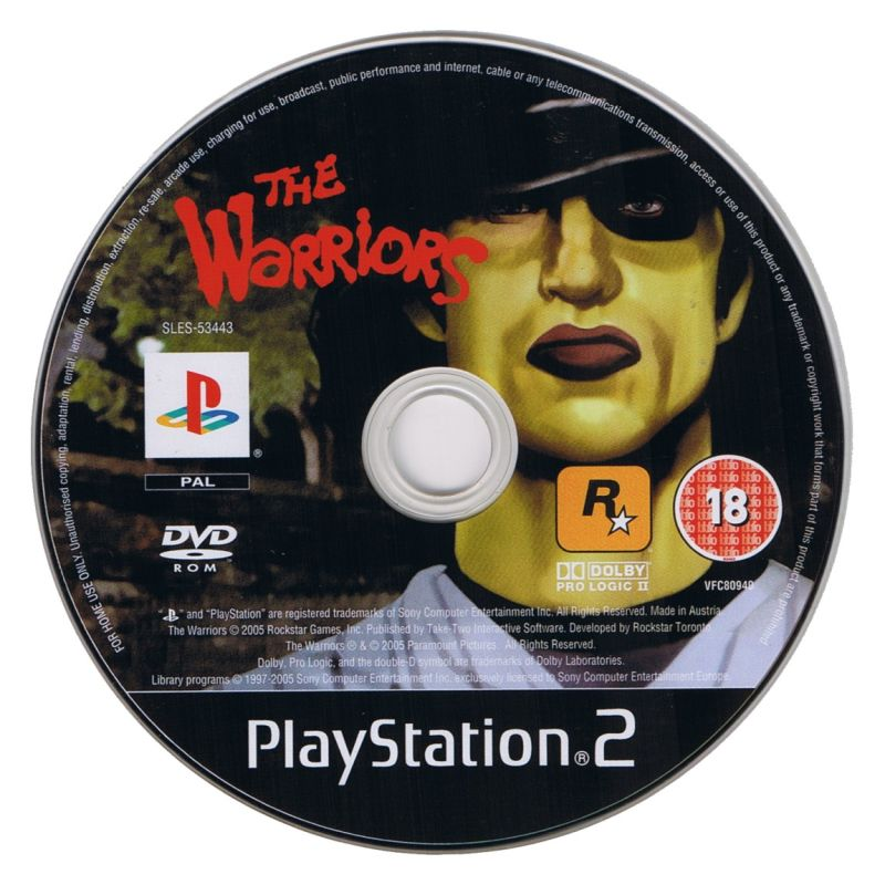 The Warriors PlayStation 2 Media