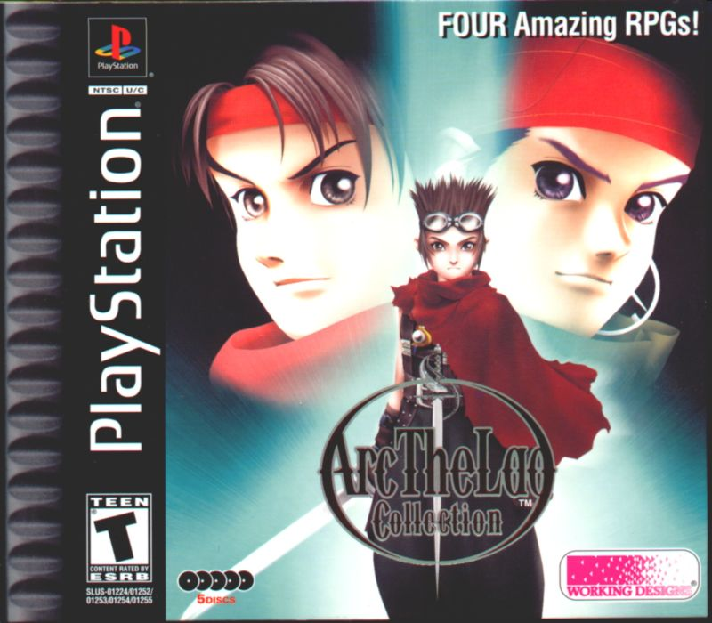 Arc the Lad Collection PlayStation Front Cover