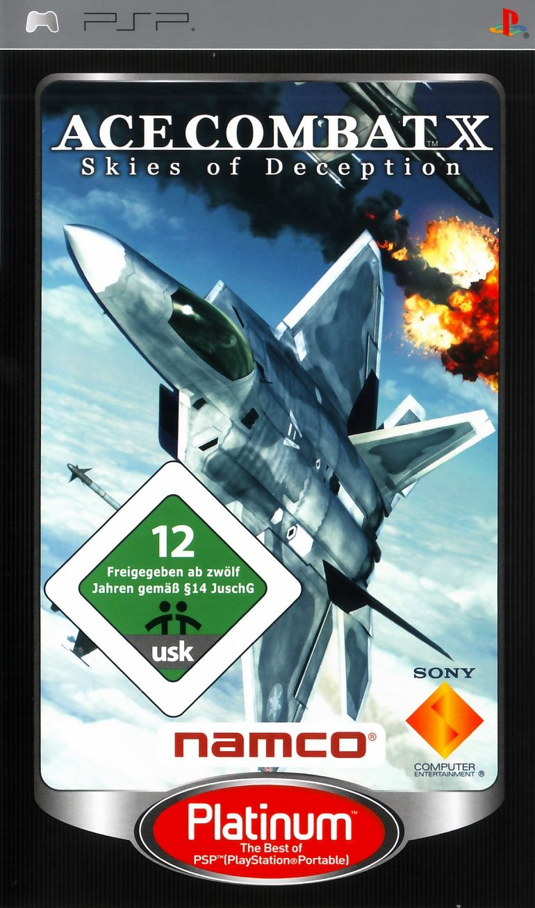 Ace Combat X: Skies of Deception PSP Front Cover