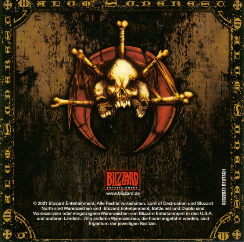 Diablo: Battle Chest Macintosh Other Diablo II: Lord of Destruction - Jewel Case - Front Inlay