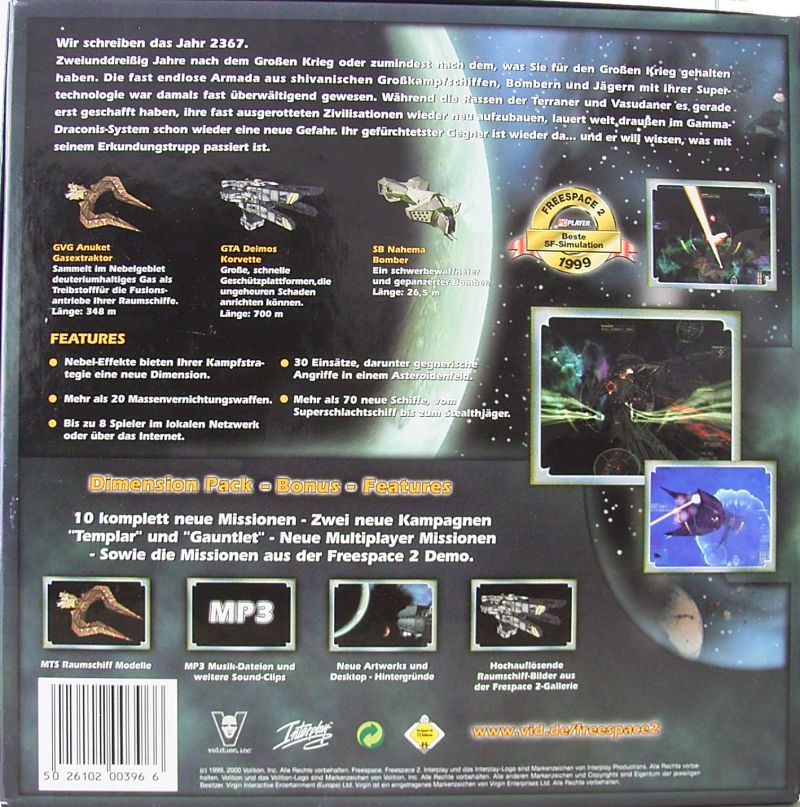 Freespace 2: Dimension Pack Windows Back Cover