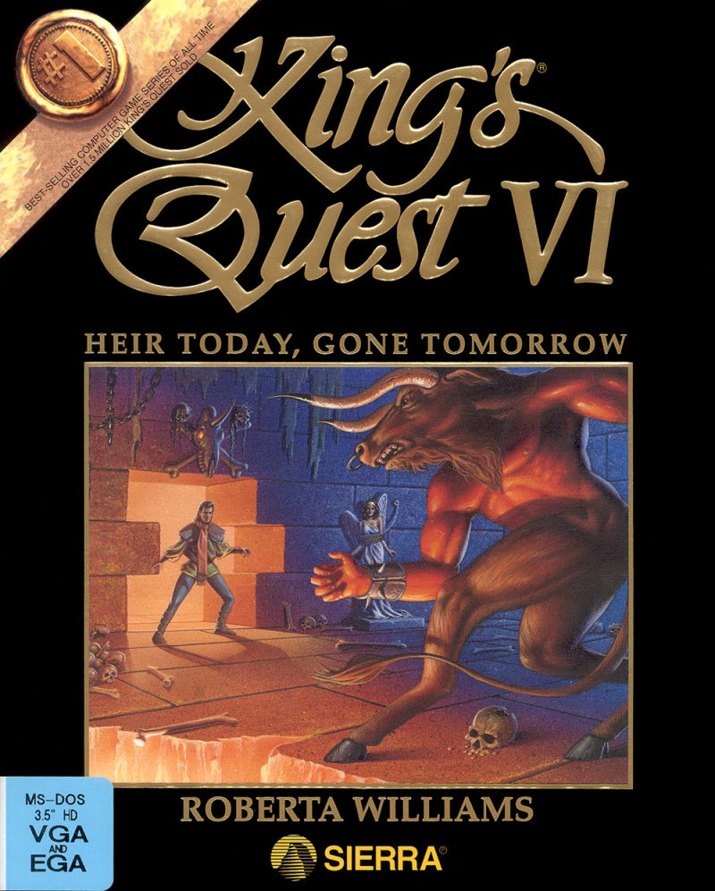 King's Quest VI: Heir Today, Gone Tomorrow DOS Front Cover