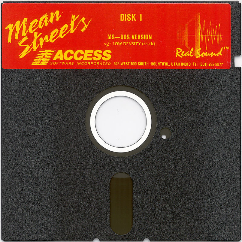 Mean Streets DOS Media Disk 1/6