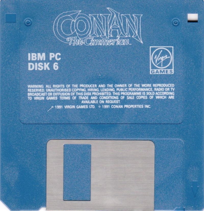 Conan: The Cimmerian DOS Media Disk 6/6