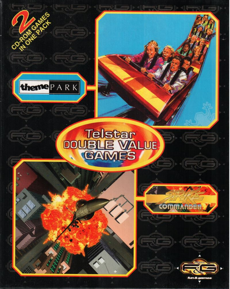 Telstar Double Value Games: Theme Park + Strike Commander DOS Front Cover