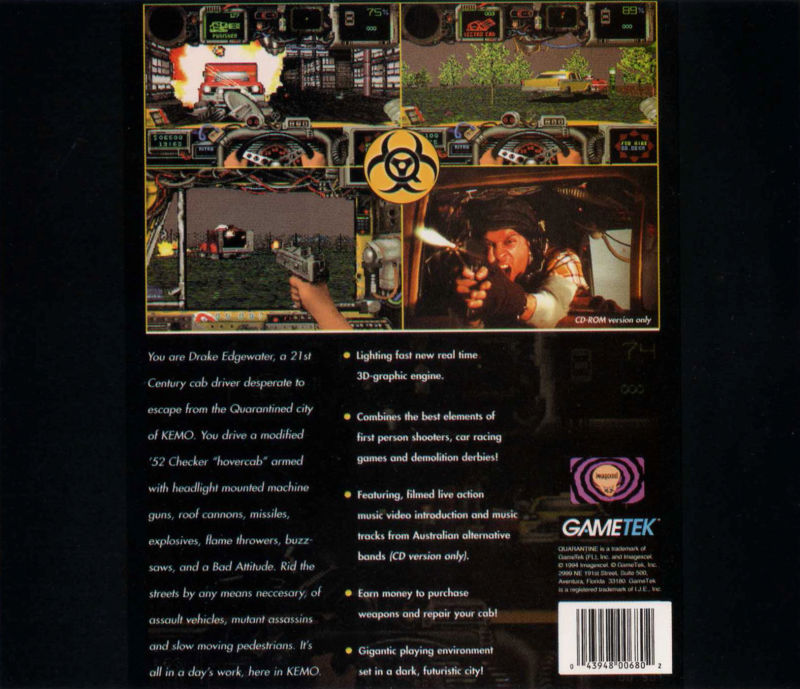Quarantine DOS Other Jewel Case - Back
