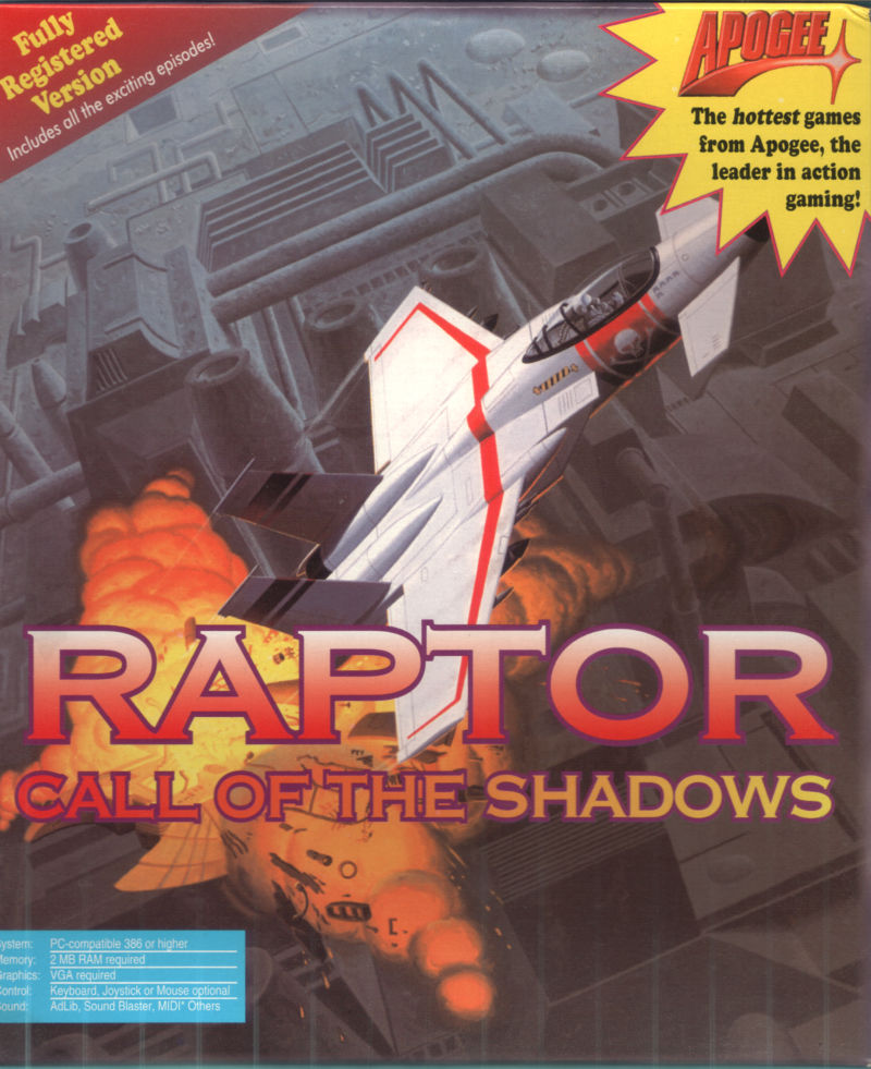 Raptor: Call of the Shadows DOS Front Cover