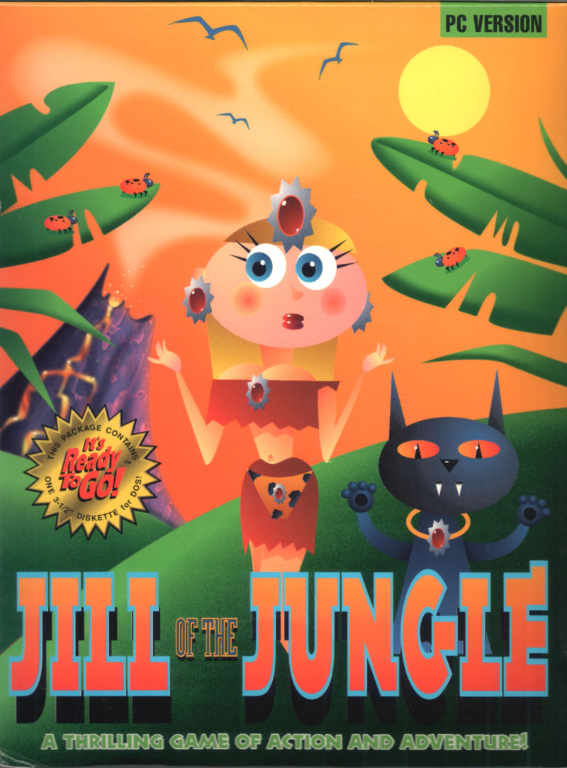 Jill of the Jungle DOS Front Cover