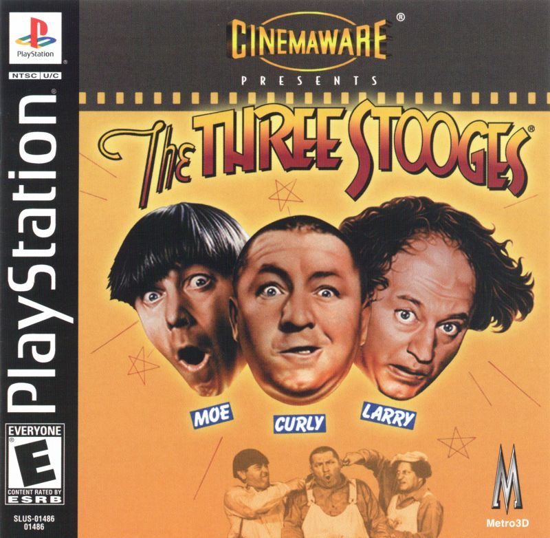 The Three Stooges PlayStation Front Cover