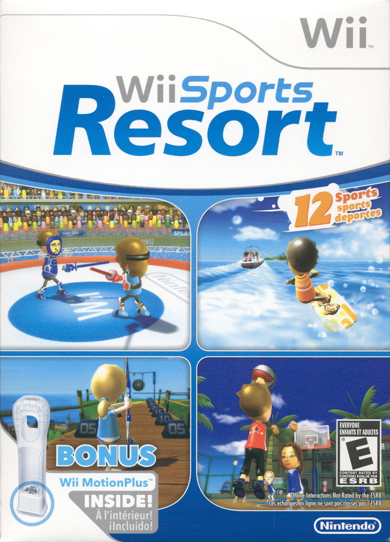 Wii Sports Resort Wii Front Cover