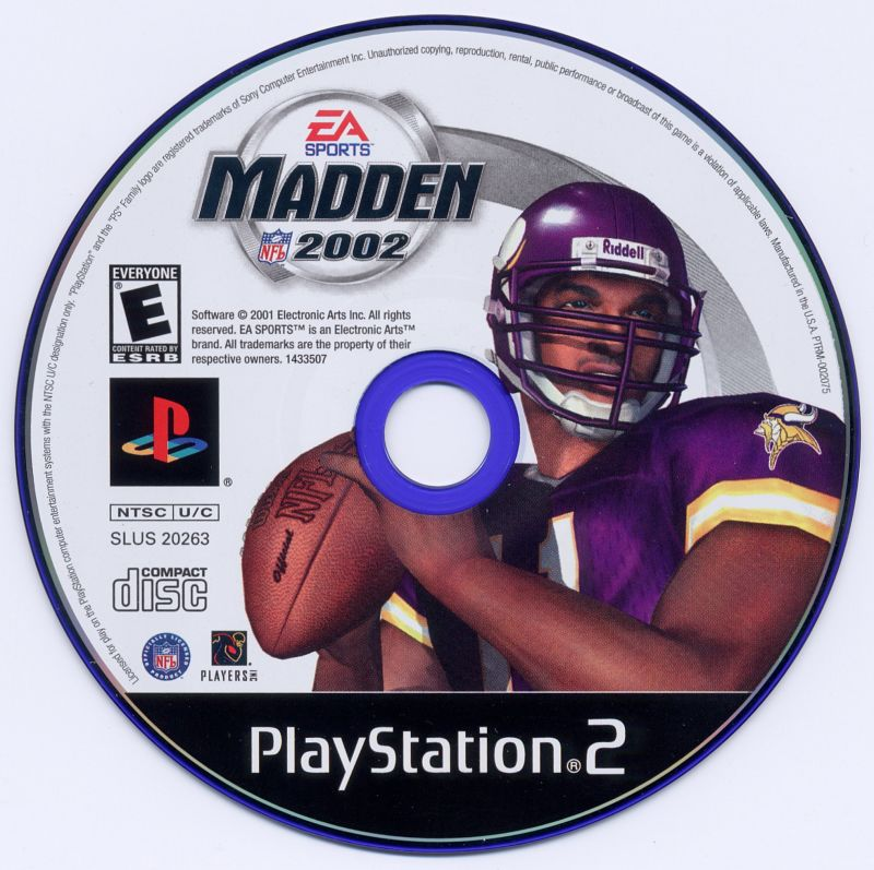 Madden NFL 2002 PlayStation 2 Media