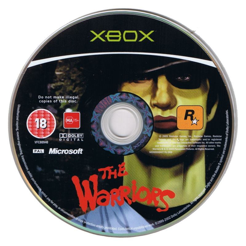 The Warriors Xbox Media