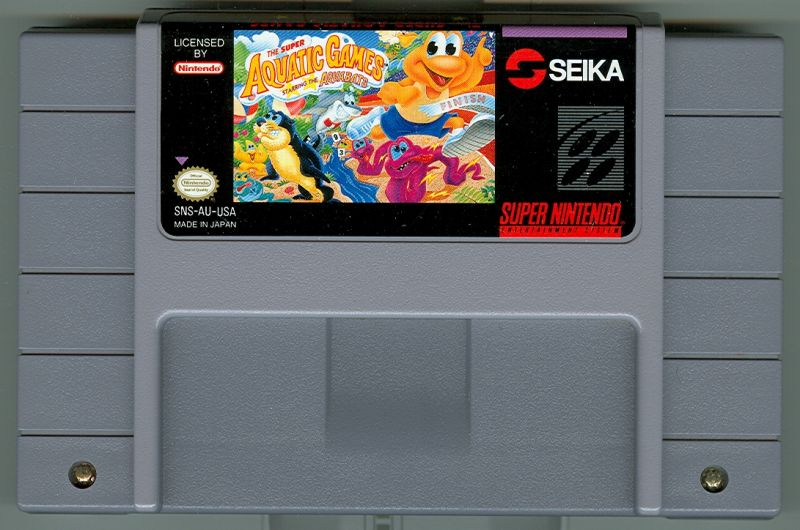 The Super Aquatic Games SNES Media