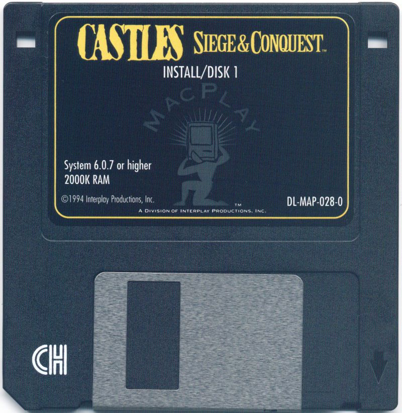 Castles II: Siege & Conquest Macintosh Media Disk 1/7