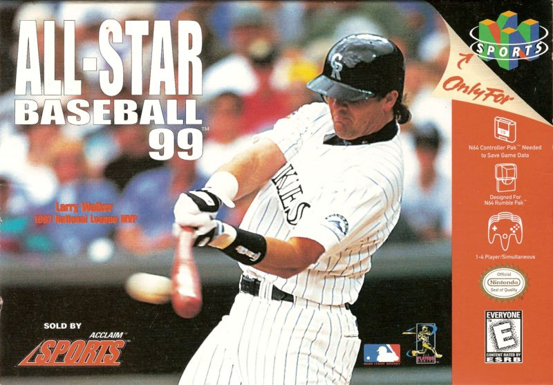 All-Star Baseball 99 Nintendo 64 Front Cover