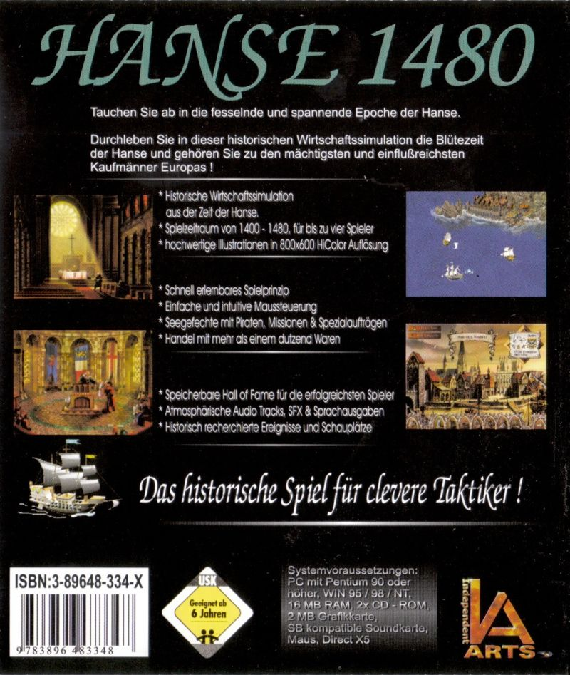 Hanse 1480: Das Vermächtnis Windows Other Jewel Case - Back