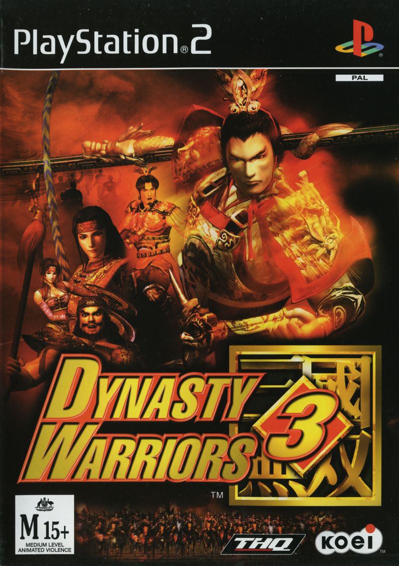 Dynasty Warriors 3 PlayStation 2 Front Cover