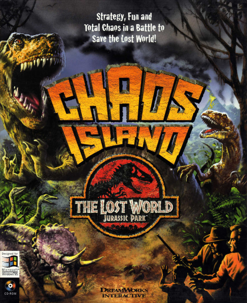 chaos island the lost world jurassic park 1997 windows box