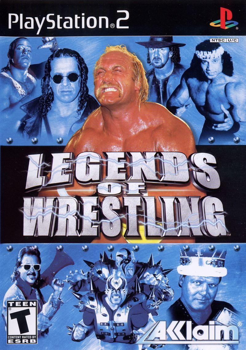 Legends of Wrestling PlayStation 2 Front Cover