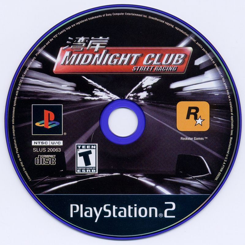 Midnight Club: Street Racing PlayStation 2 Media