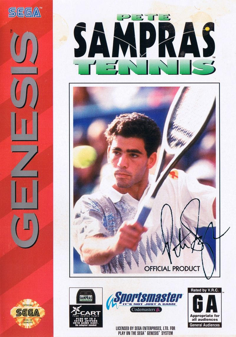 Pete Sampras Tennis Genesis Front Cover