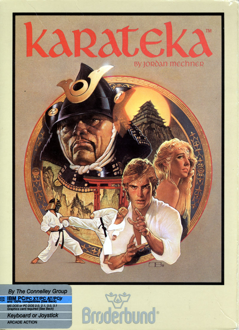 Karateka DOS Front Cover