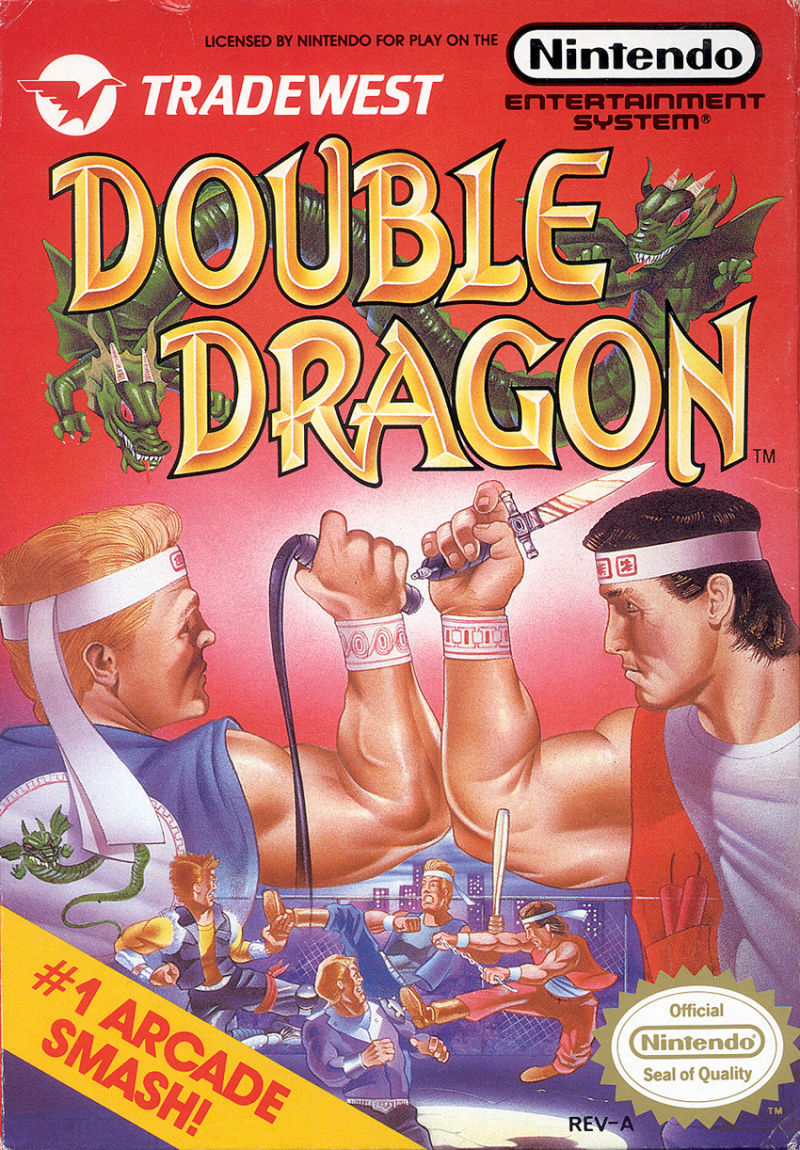 double dragon nes art