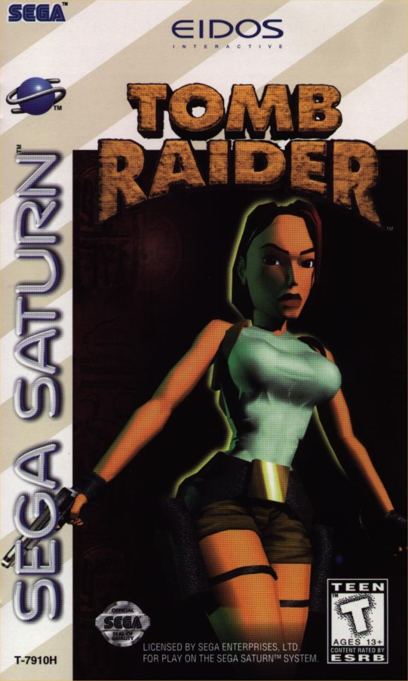 Tomb Raider SEGA Saturn Front Cover