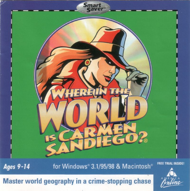 Where in the World is Carmen Sandiego? (CD-ROM) Macintosh Front Cover