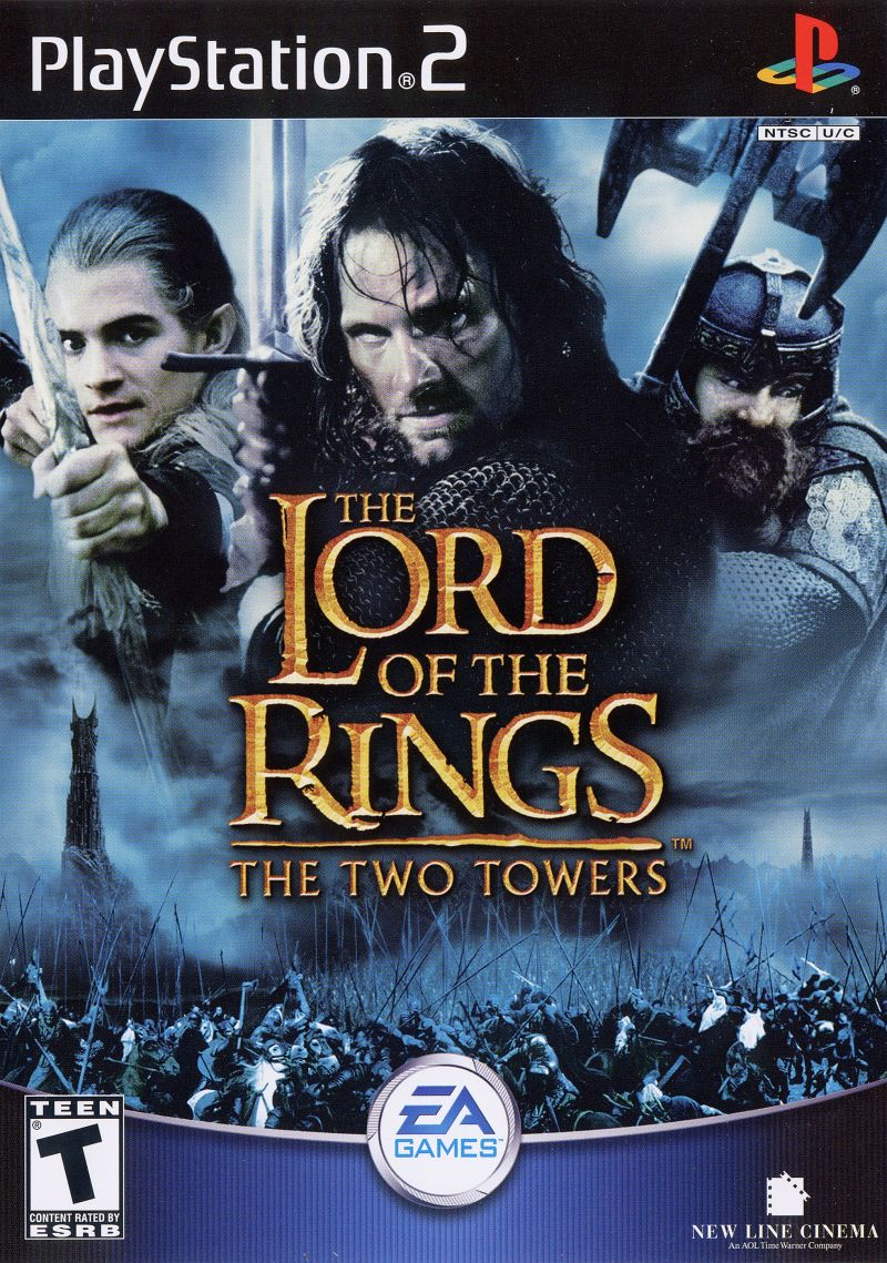 The Lord Of The Rings The Two Towers 2002 Playstation 2 Box Cover Art Mobygames
