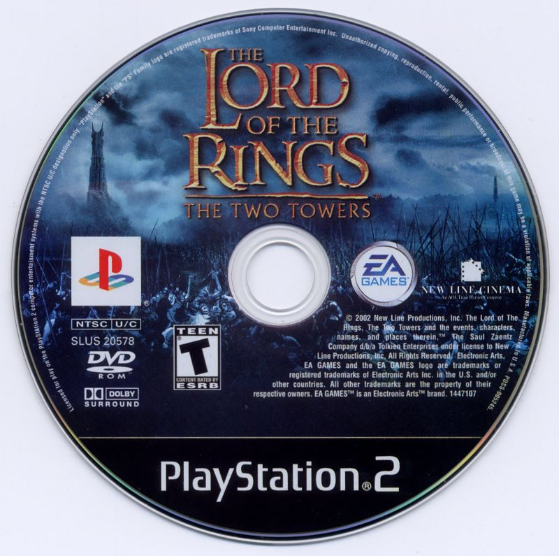 The Lord of the Rings: The Two Towers PlayStation 2 Media