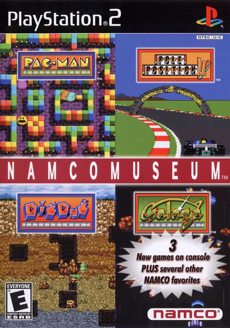 Namco Museum PlayStation 2 Front Cover